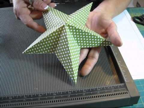 ▶ 5 point star with one square paper www.frenchiestamps.com - YouTube