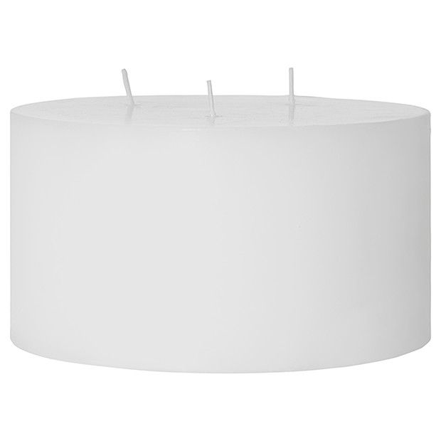 3 Wick Pillar Candle - White