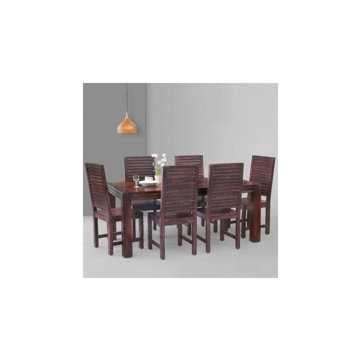 sei sedie Legno di sheesham Set da pranzo DSS-10976 X 180 X 88 CM | Arts of India – Italy
