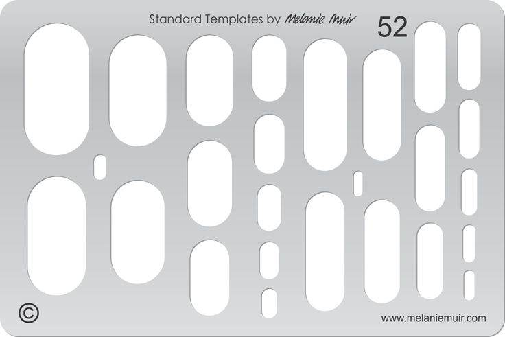Acrylic template No. 52. Perfect for creating a wide variety of polymer, metal or clay bracelet, necklace, pendant and earring designs.