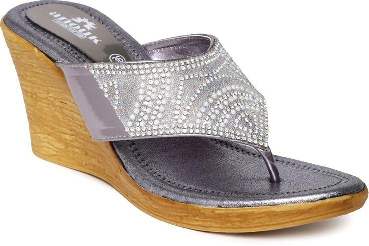 Anouk Women Silver Wedges - Buy Silver Color Anouk Women Silver Wedges Online at Best Price - Shop Online for Footwears in India   Flipkart.com