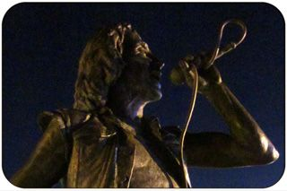 Bon Scott Statue (AC DC) at Fishing Boat Harbour, Fremantle, Western Australia