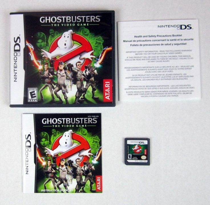Ghostbusters: The Video Game (Nintendo DS, 2009) Complete Game Case & Manual