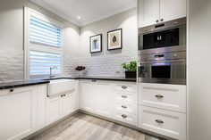 Doors and panels in polytec 21mm Keimbah Thermolaminated Classic White Matt.