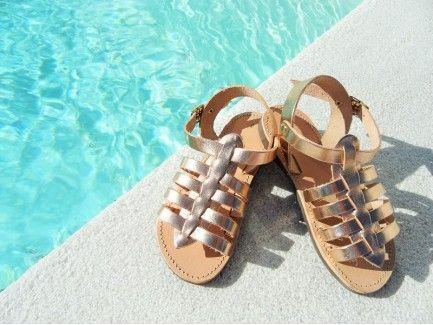 Hermes Gold kids Sandals