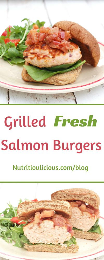 These quick and easy salmon burgers are full of flavor and nutrition ...