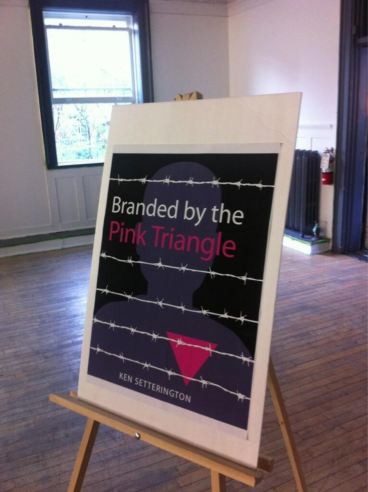 Branded by the Pink Triangle, by Ken Setteringon, was launched tonight to great success at the 519 Community Centre in Toronto!