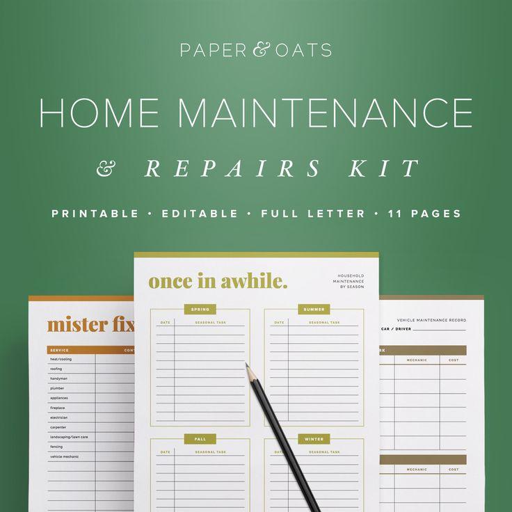 home maintenance kit  household binder  household