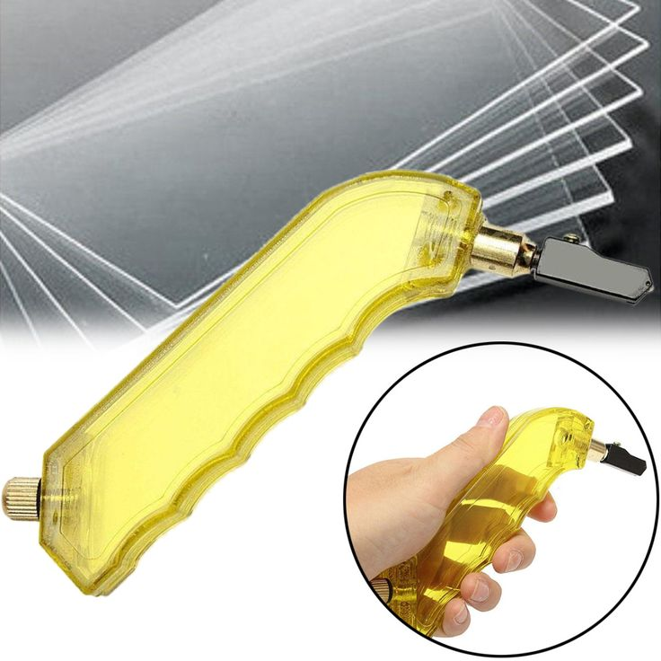 1pc New Stain Glass Cutter Tungsten Carbide Pistol Grip Oil Glass Cutter With Dropper Tool For Power Tool