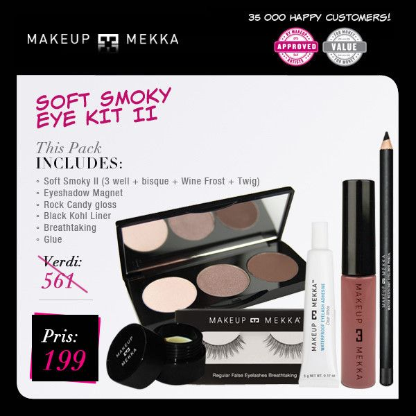 SOFT SMOKY EYE KIT II fra Makeupmekka. Om denne nettbutikken: http://nettbutikknytt.no/makeupmekka-no/