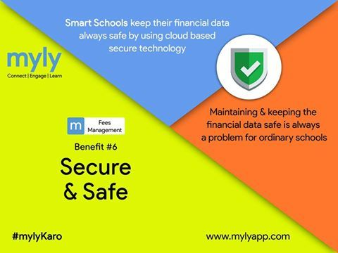 Cloud based secure technology keeps your financial data always safe.  #myly #SchoolApp #SchoolFees #SchoolERP  Know more at https://www.mylyapp.com/fees-management