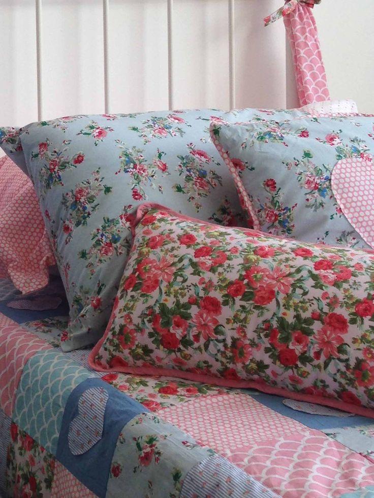 Homewares - Pink Roses Cushion Cover - Oobi.com.au