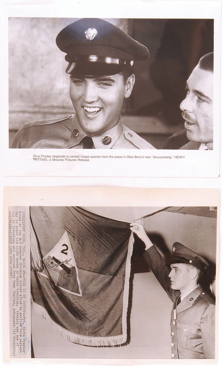 Collection of 24 Elvis Presley Original News Service Photos from His Time in the Army