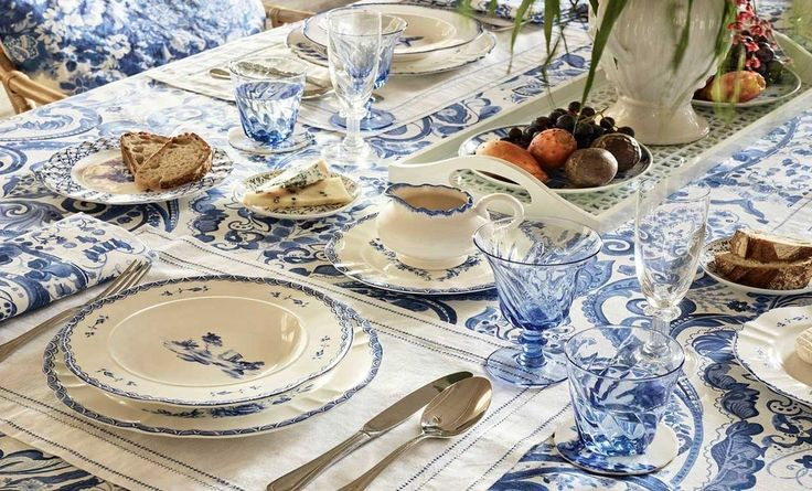 подарите себе удовольствие #decoration #посуда #дельфт #сервировка #декорстола #galleria_arben #holiday #serving