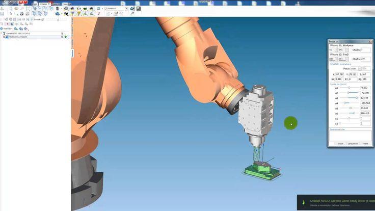Ukázka programování - KUKA robot / SprutCAM