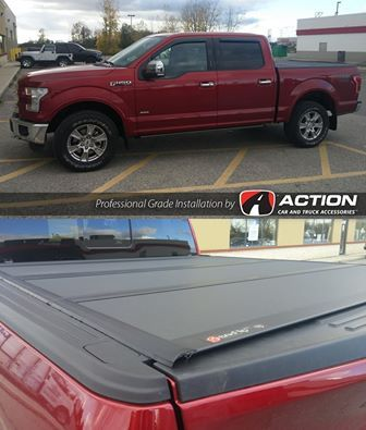 Bakflip MX Series Tonneau Cover by Bak Industries, Mud Guards and Floor Liners by Husky Liners, Vent Visors by AVS installed on this F150 by our store in London, ON #ProfessionalGradeInstallation