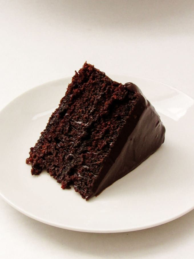 The Best Chocolate Cake is moist, rich, and decadent. It takes less than an hour to make and is truly the best chocolate cake you'll ever eat.