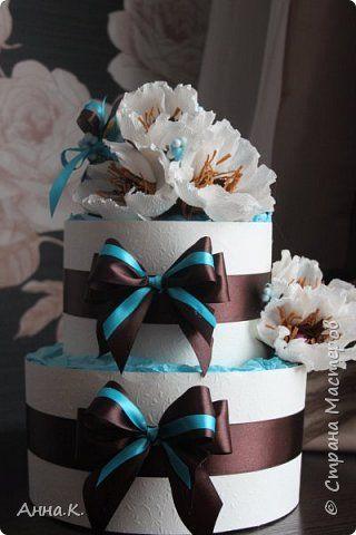 Моя магнолия)))) Тортики  из памперсов .