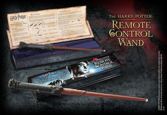 Harry Potter Remote Control Wand   Magically control any IR device with a flick of the wrist. Complete with collector box and comprehensive instructions.