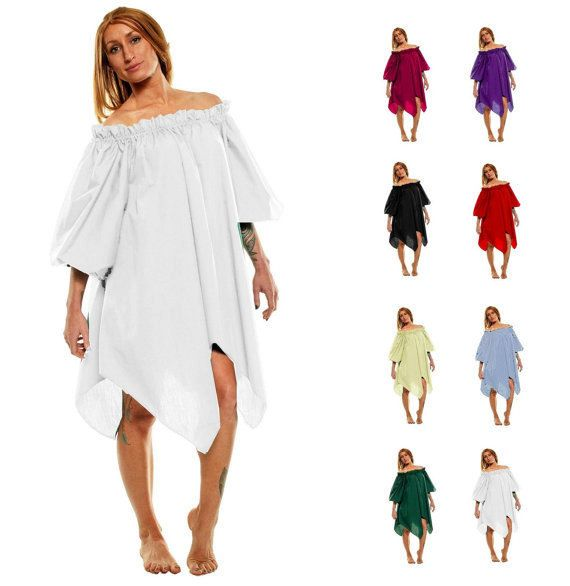 RENAISSANCE CHEMISE MEDIEVAL Clothing Peasant Top Pirate Wench Costume Shirt Fairy Dress Up Gypsy Costume Womens Renaissance Shirt