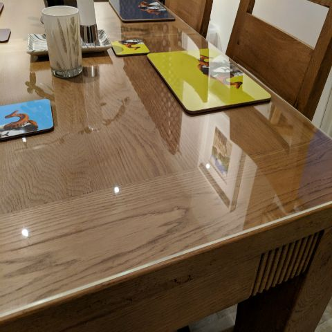 Clear Furniture Protectors In 2020 Wooden Table Diy Acrylic Table Fitted Table Cover