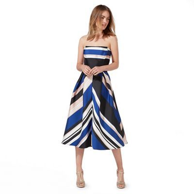 Debut Multi-coloured striped prom dress | Debenhams