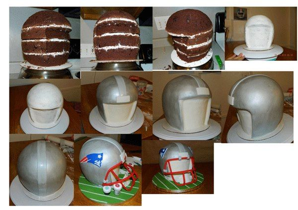 Football Helmet. It is created by Cakes by Maureen.