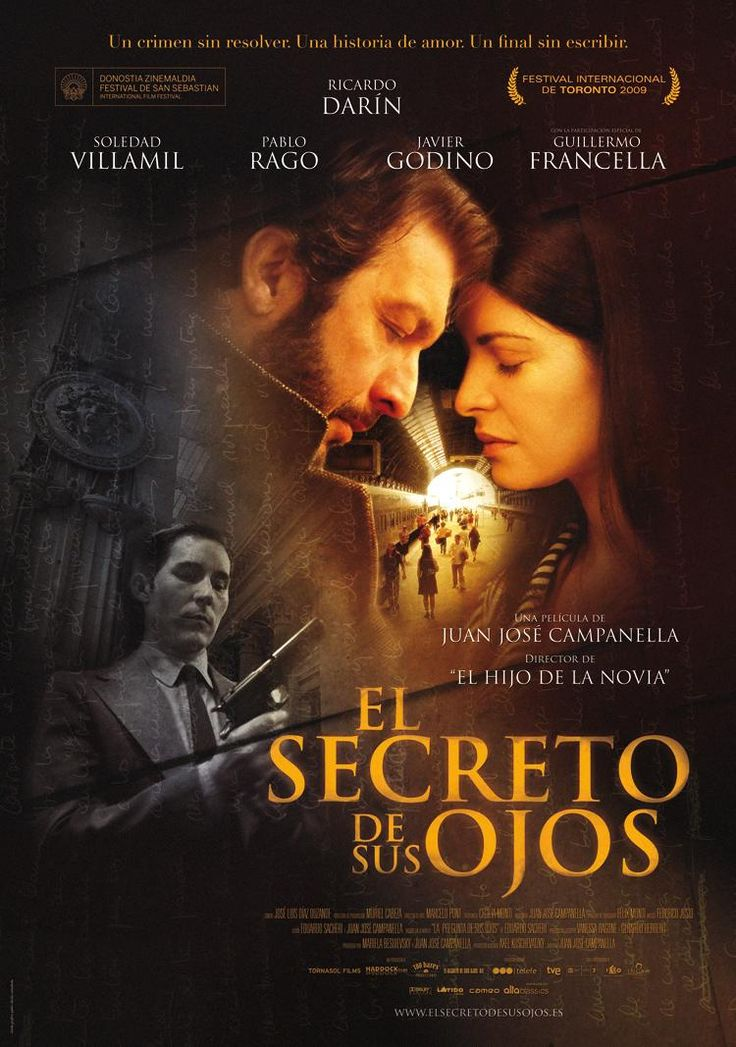 El Secreto de sus Ojos (2009) - um soco no estômago tão forte que facilmente poderia se supor que têm a mão de Almodóvar neste filme . Daquelas de te deixar sem ar . by V!cious