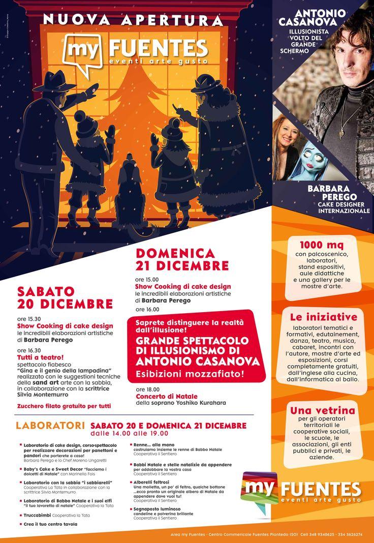 Corsi gratuiti di cake design natalizio al centro Fuentes di Piantedo (SO) il 20 e 21 Dicembre ogni mezz'ora dalle 14 alle 19. Vi aspetto!