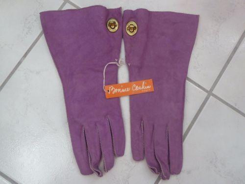 Vintage-NEW-Bonnie-Cashin-Crescendoe-Superb-Leather-Gloves-NWT-Lavender-Size-8