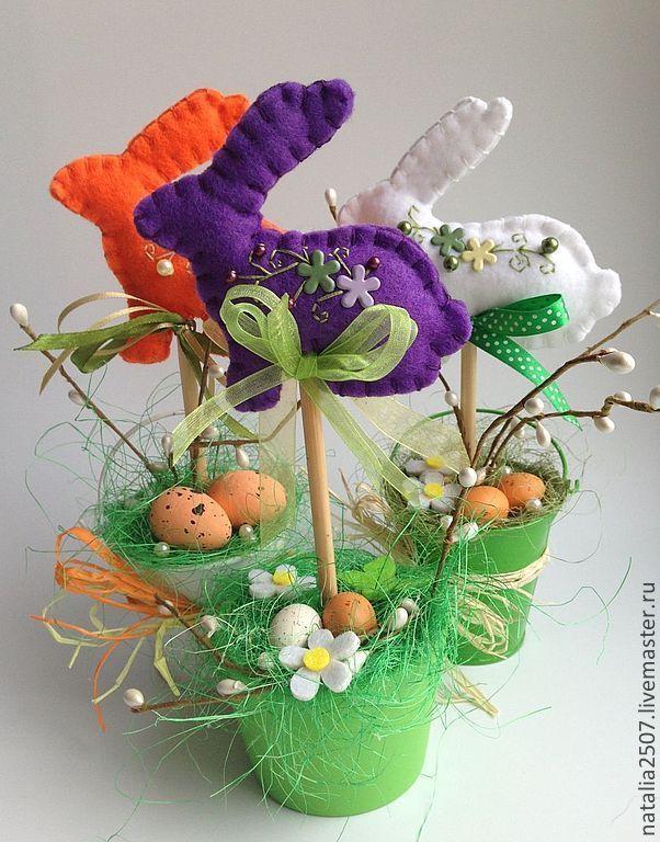 Пасхальный кролик - зелёный,Пасха,пасхальный сувенир,пасхальный подарок