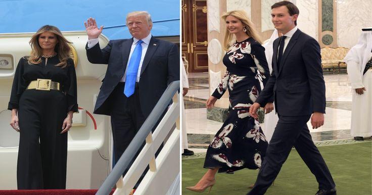 """Melania et Ivanka Trump sans voile en Arabie saoudite... comme Michelle Obama que Donald Trump jugeait """"insultante"""""""