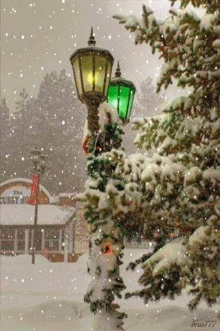 Animated gif SNOWING