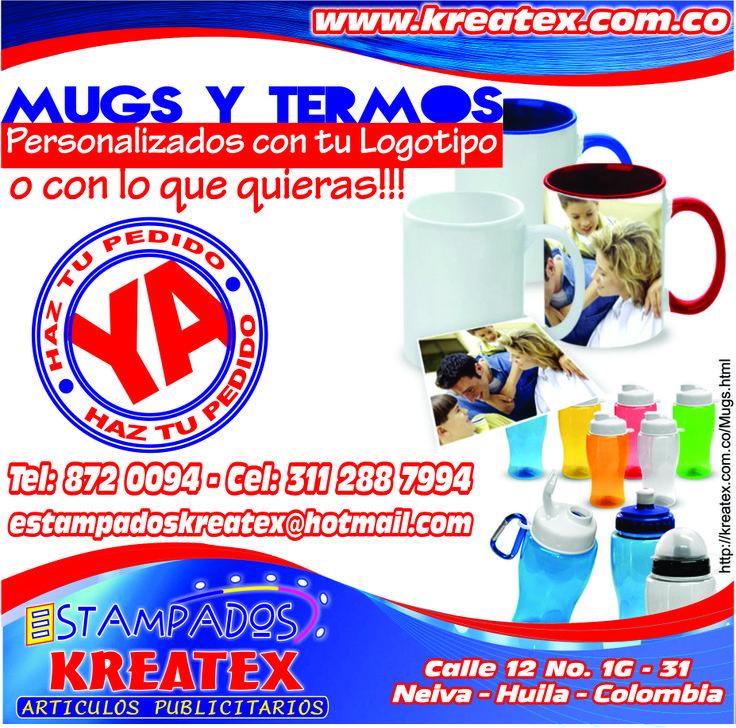 MUGS Y TERMOS http://kreatex.com.co/Mugs.html