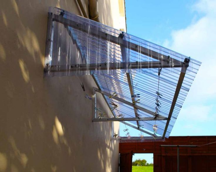 Covered Clothesline Canopy, all weather solution