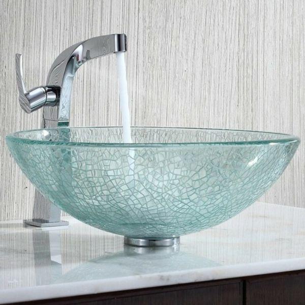 La Vasque En Verre Fonctionnelle Et Tres Deco Archzine Fr Vasque En Verre Vasque Et Evier