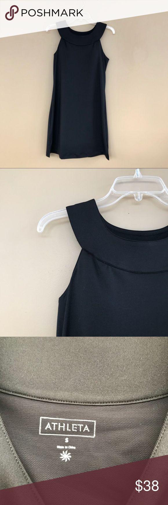 "• Athleta • Black Athletic Dress Built in Bra S - Athleta - Black Dress - Small - Length 34""  - Built in Bra - Excellent Condition Athleta Dresses"