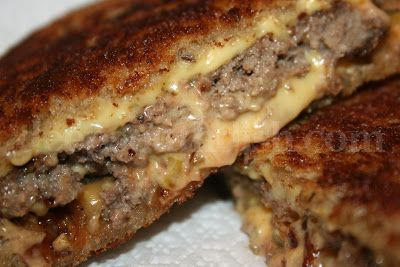 A diner classic, Patty Melts are made with very thin, oval shaped burger patties, and served on thin grilled rye bread, with caramelized o...