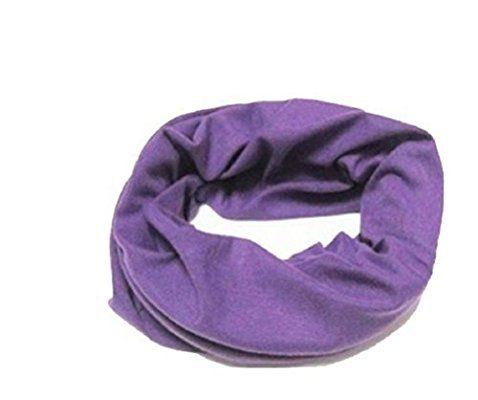 Multifunktionstuch, Kopftuch, Stirnband , Motorrad Halstuch, Bandana viele Farben (Lila)