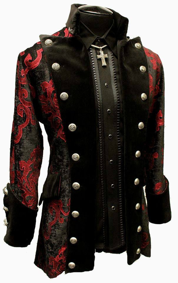 SHRINE GOTHIC VAMPIRE GOTH VICTORIAN VERSAILLES PIRAT COAT JACKET LESTAT VELVET #SHRINE #COAT