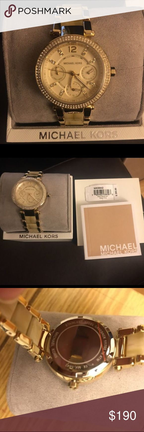 Brand new Michael Kors watch Brand new in original box. Was supposed to give it as a gift so I cut/detached the price from the tag as seen on the last photo. Michael Kors Accessories Watches