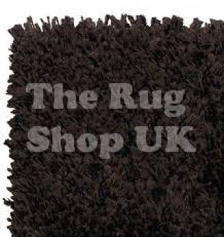 Aspen 7001 430 Espresso Brown Shaggy Rug - The Rug Shop UK