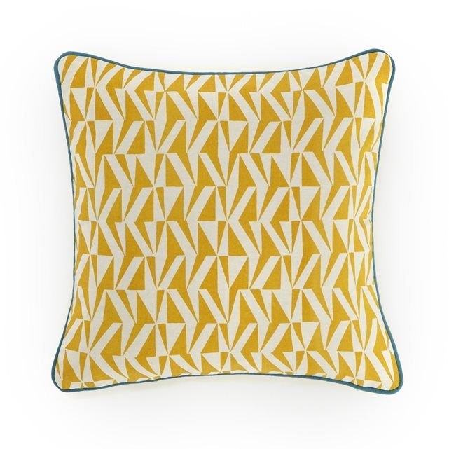 Iyère Printed Cotton Cushion Cover La Redoute Interieurs   La Redoute Mobile