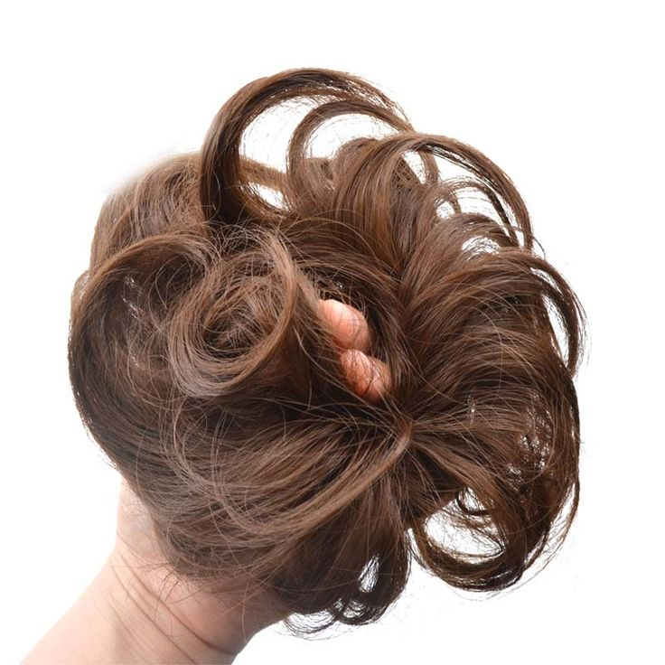 jeedou Synthetic Brown Curly Chignon Hair Extension Women s Hair Accessories Wavy Rubber Band Hair Bun. Click visit to buy #SyntheticExtensions