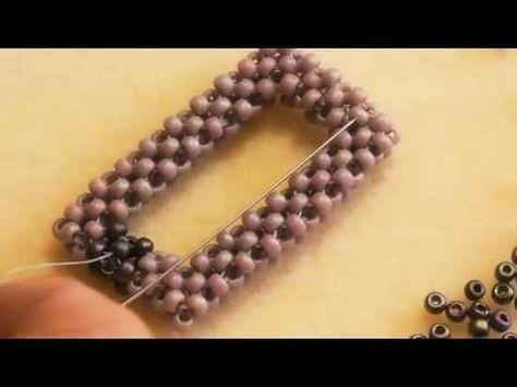 Video: Cubic Right Angle Weave - how to create a frame with Heather Collin ~ Seed Bead Tutorials