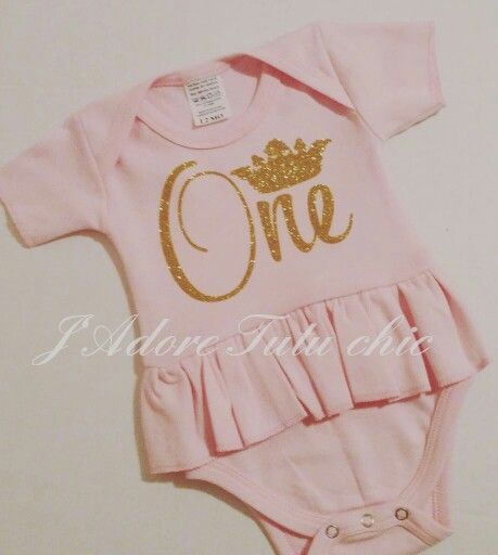 Www.etsy.com/shop/jadoretutuchic  Pink and gold 1st birthday onesie - pink and gold 1st birthday tutu
