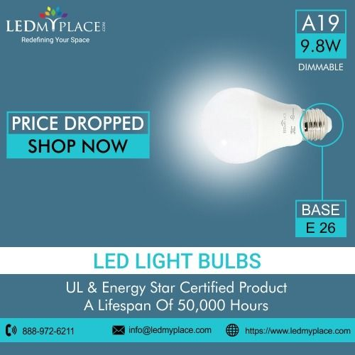 Buy Our Best Selling Product A19 Led Dimmable Bulbs For Home And Office In Huge Discount These Lights Can Save Your Electric B Led Light Bulbs Bulb Led Lights