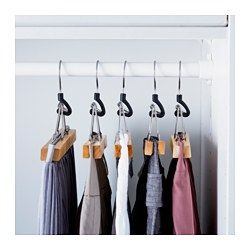 IKEA - BUMERANG, Pants hanger, Felt-lined to protect the pants and keep them in place.