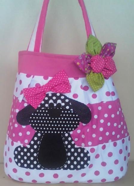 sac patchwork chien