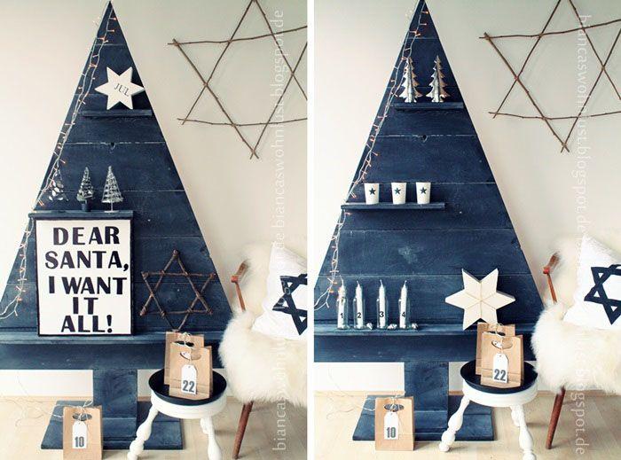 tannenbaum aus holz diy weihnachtsdeko biancas wohnlust. Black Bedroom Furniture Sets. Home Design Ideas